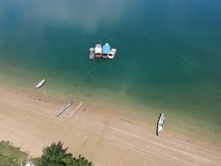 Natureza, barcos na bahia, brazil