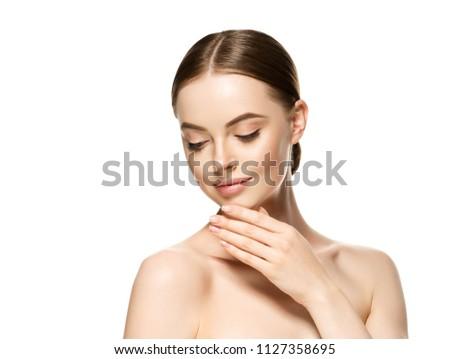 Naturzl makeup woman portrait beauty healthy skin care concept #1127358695