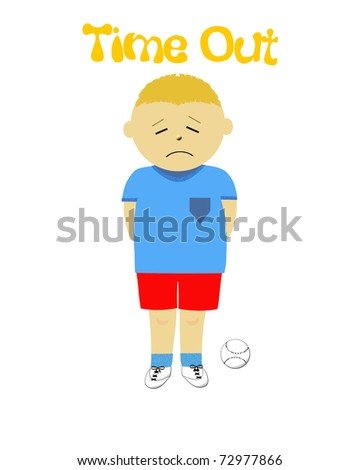 Naughty Little Boy In Time Out Illustration - 72977866 : Shutterstock