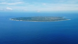 Nauru - 3rd smallest country in the world, aerial view