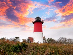 Nauset Light, officially Nauset Beach Light,is a restored lighthouse on the Cape Cod National Seashore near Eastham, Massachusetts United States.
