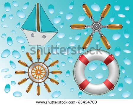 nautical icons collection, abstract art illustration; for vector format please visit my gallery