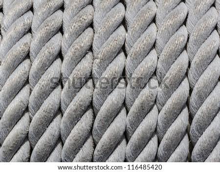 Nautical Rope, Closeup as Nautical Background and Texture.