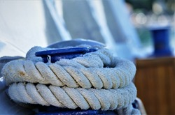 Nautical rope for the boat sea background
