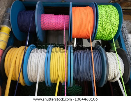 Nautical Rope, Rope Rope Reel Colorful Ropes #1384468106