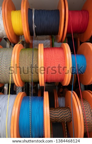 Nautical Rope, Rope Rope Reel Colorful Ropes #1384468124