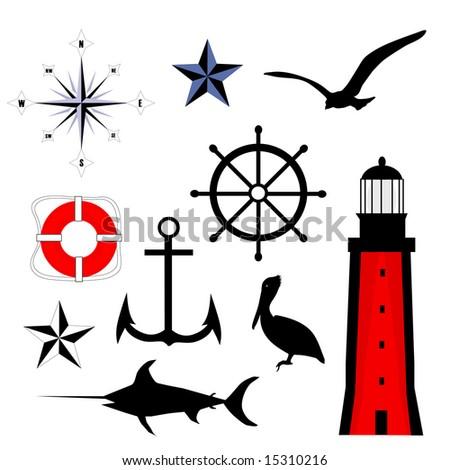Nautical Set is hand drawn original artwork.