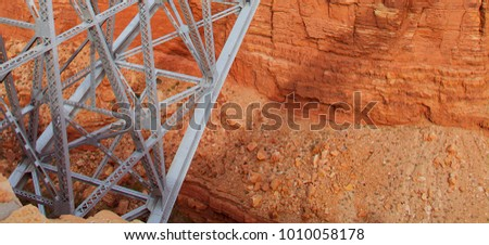 navajo bridge spanning the...