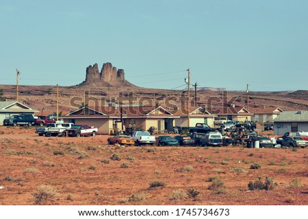 Navajo Native American life on a reservation in Arizona