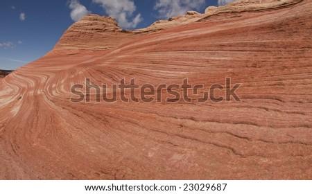Navajo Sandstone Layers - stock photo