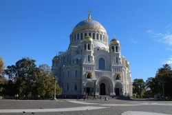 Naval Cathedral in Kronstadt, Russian federation
