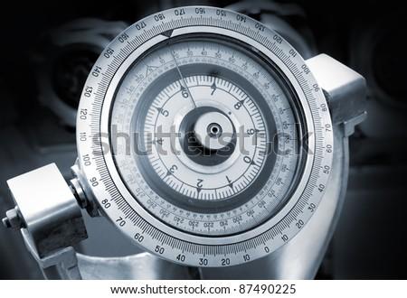 Naval gyrocompass monochrome photo