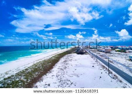 Navarre Beach - Down the Beach View