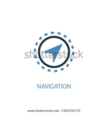 Navigation concept 2 colored icon. Simple blue element illustration. Navigation concept symbol design. Can be used for web and mobile UI/UX