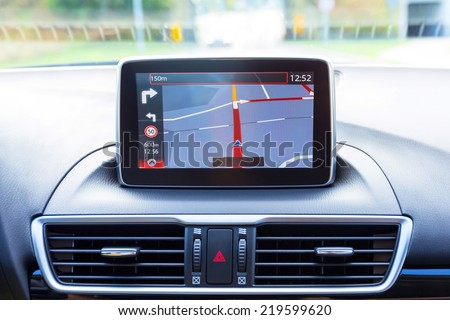 Navigation device in the car Imagine de stoc ©