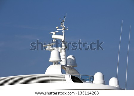 Navigation equipment on luxury boat