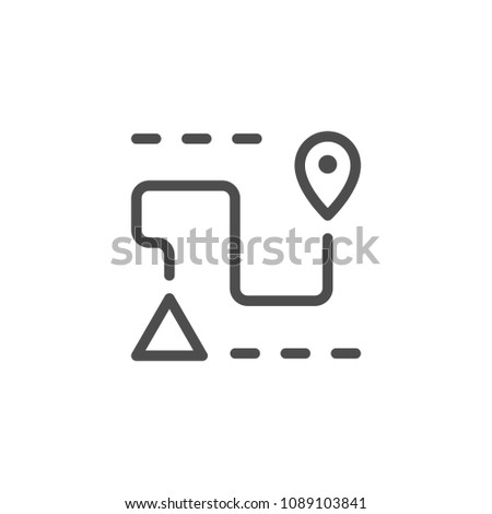 Navigation line icon isolated on white