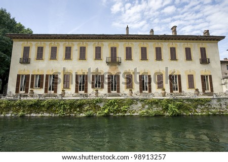 Naviglio Grande (Milan, Lombardy, Italy) - Villa Gaia, ancient palace on the canal