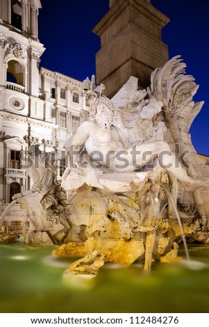 Navona square fountaine, Rome, Italy