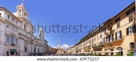 Navona Square, Rome, Italy. Panorama.