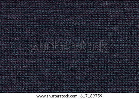 Navy blue background with checkered pattern, closeup. Structure of the fabric macro. #617189759