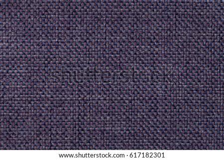 Navy blue background with checkered pattern, closeup. Structure of the indigo fabric macro. #617182301