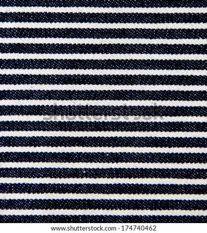 Navy blue striped denim texture. #174740462