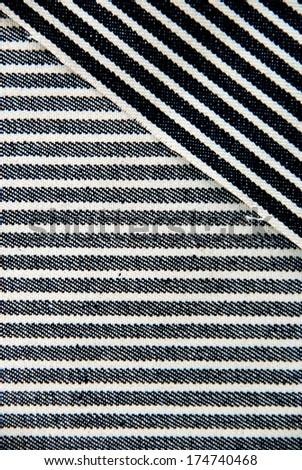 Navy blue striped denim texture. #174740468