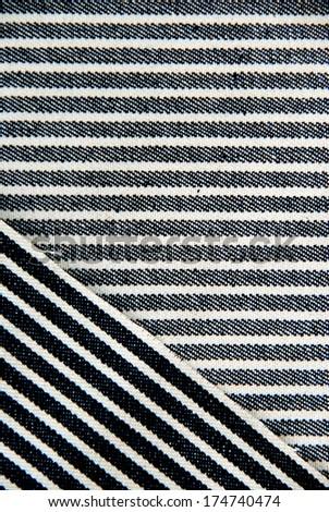 Navy blue striped denim texture. #174740474