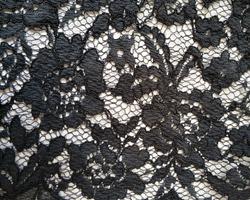 navy blue vintage old floral lace