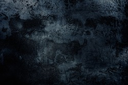 Navy grungy retro surface of cellar worn. Cracked veined lofted damaged horror dirty facade. Mystical bumpy messy outer broken wall of 3D digital grunge design. Medieval mystery dusk spooky dungeon