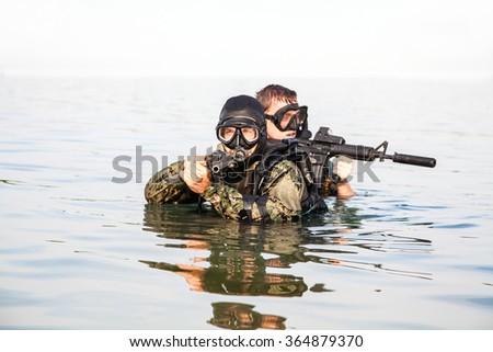 Navy SEAL frogmen  #364879370