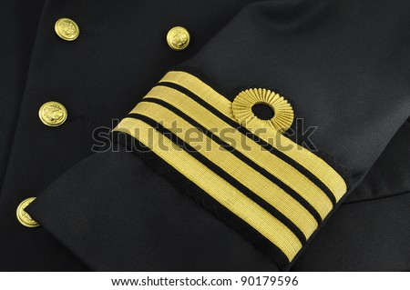 Captain Rank in Chinese Navy Uniform With Captain Rank