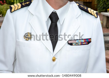 Navy white naval officer uniform french military sailor #1480449008