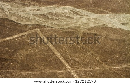 Nazca Lines, Aerial View, Peru, The Whale