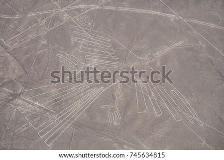 Nazca Lines - The Condor - Landmark of Peru. #745634815