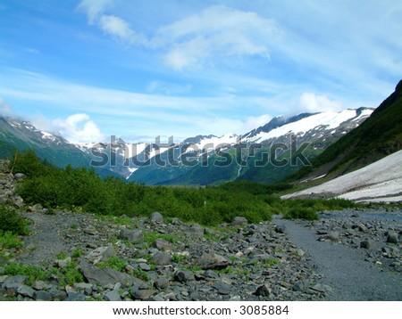 Near Portage Glacier in Alaska