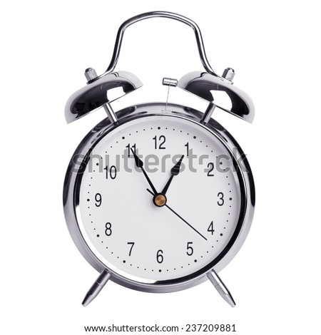 Nearly an hour on a round alarm clock