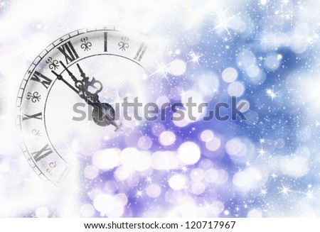 Nearly Twelve O'clock Midnight, New Year Concept. #120717967