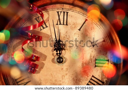 Nearly Twelve O\'clock Midnight,New Year Concept.