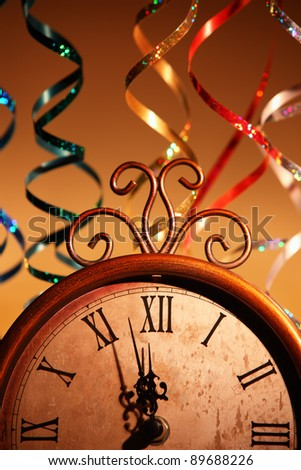 Nearly Twelve O\'clock Midnight,New Year Concept.