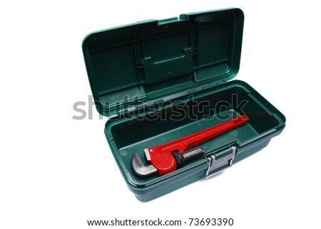 neat and tidy wrench in green toolbox