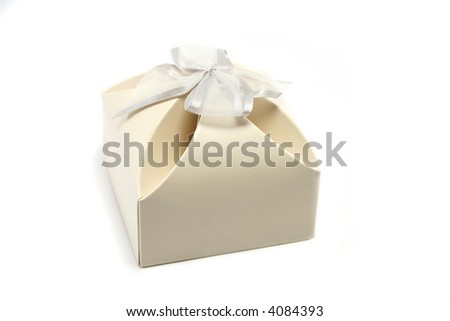 neat little gift box, often used for wedding favours