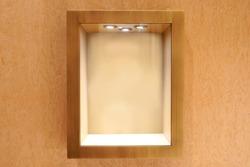 Neat wooden Empty glass showcase display