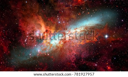 Stock Photo Nebula and galaxies in deep space. Elements of this image furnished by NASA.