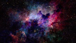 Nebula and galaxies in space. Celestial sky. Elements of this image furnished by NASA.
