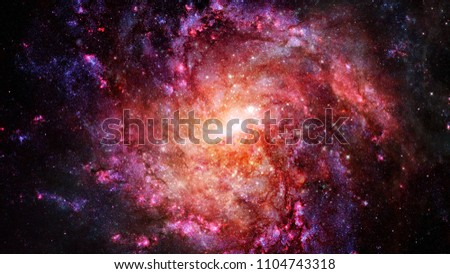 Nebula and galaxies in space. Elements of this image furnished by NASA. #1104743318