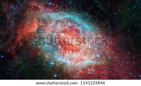 Nebula and galaxies in space. Elements of this image furnished by NASA. #1143224846