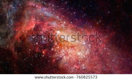 Nebula and galaxies in space. Elements of this image furnished by NASA. #760825573