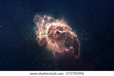 Stock Photo Nebula and stars in deep space, glowing mysterious universe. Elements of this image furnished by NASA